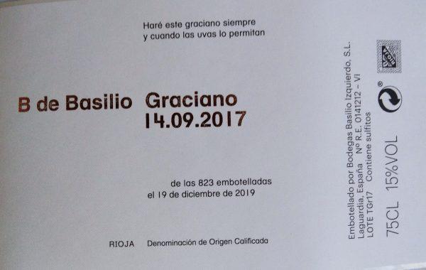 Etiqueta B de Basilio Graciano