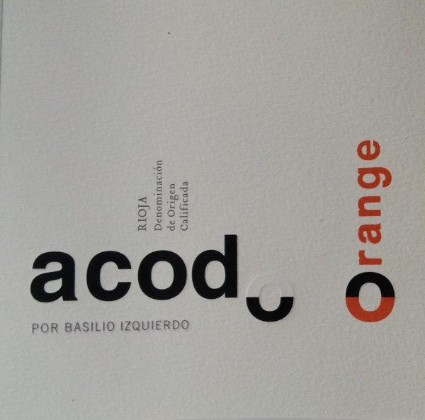 Etiqueta Acodo Orange